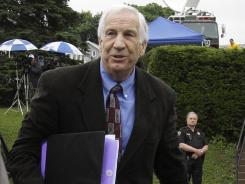 Former Penn State University assistant football coach Jerry Sandusky ...