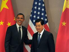 President Barack Obama and Chinese President Hu