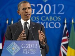 The campaign of President Obama, who attended Tuesday's G-20 summit in Mexico, raised $39.1 million in May.