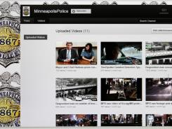 This image shows a computer screen displaying the Minneapolis Police Department YouTube Channel, part of what officials say is an effort to be more open with the public.