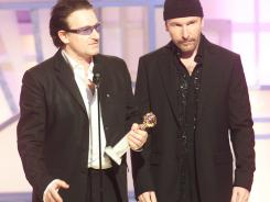 In 2003: Bono and The Edge, and an F-word, at the Golden Globes.