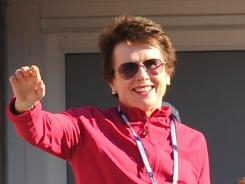 Billie Jean King at the U.S. Open tennis tournament in 2010.