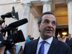 Greece's new prime minister, Antonis Samaras, had eye surgery Friday.