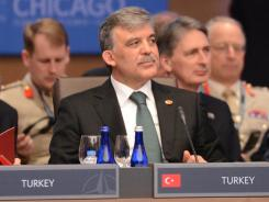 Turkish President Abdullah Gul attends the NATO summit on May 20 in Chicago.