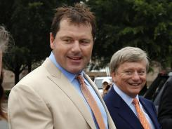 Acquitted: Former pitcher Roger Clemens, left, and his attorney, Rusty Hardin, last week.
