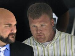 Sandusky, right, says he was abused for seven years.