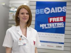 Walgreen's pharmacy manager Sarah Freedman stands in her store in Washington. The Centers for Disease Control and Prevention have announced a $1.2 million pilot project to offer free rapid HIV tests at pharmacies and clinics in 24 cities and rural communities.
