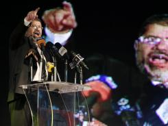 Mohammed Morsi speaks at a rally in Cairo, Egypt, on May 20.