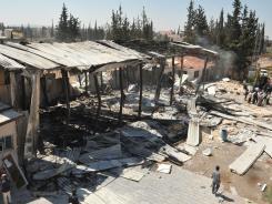 The pro-government Al-Ikhbariya TV station outside Damascus, Syria, was attacked Wednesday.