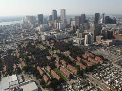 New Orleans, pictured in 2010, was the fastest-growing large city, according to Census data.