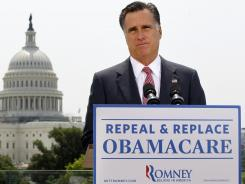 "Mitt Romney said Thursday that he will try to repeal ""Obamacare."""