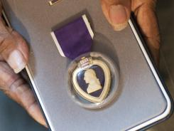 The Purple Heart is given to those who receive injuries resulting from enemy engagement requiring a medical officer's treatment.