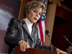 Sen. Barbara Boxer, D-Calif., gives an update on the surface transportation bill, May 15.