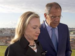 Secretary of State Hillary Clinton meets with Russian Foreign Minister Sergey Lavrov in St. Petersburg on June 29.