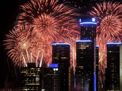 Fireworks illuminate the sky over Detroit on June 25. The $700,000 expenditure for the display has drawn fire.
