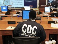 A worker at the Centers for Disease Control and Prevention in Atlanta.