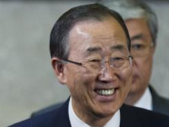 U.N. Secretary-General Ban Ki Moon at the United Nations' headquarters in Geneva, Switzerland, on June 30.