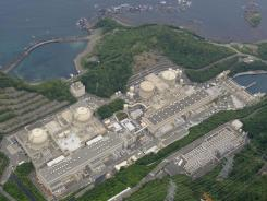 Four round-shaped reactors are seen at Ohi nuclear power plant in Ohi town in Fukui Prefecture, western Japan.