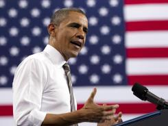 President Obama speaks at the University of Colorado in Boulder, Colo., on April 24.
