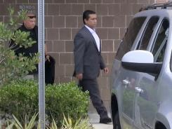 This still grab from video shows George Zimmerman leaving the Seminole County Jail on July 6.