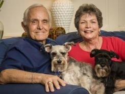 Helping researchers: Bill Frost, with wife Nancy, took part in one drug trial and is participating in another.