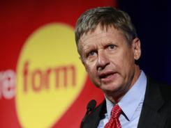Former New Mexico governor Gary Johnson is the Libertarian Party's nominee for president.