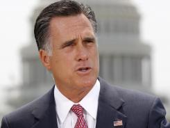 Republican presidential candidate Mitt Romney speaks in Washington last month.