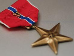 "The Bronze Star with the ""V"" for valor is often awarded for heroism. As the U.S. has waged two wars at once, suicide within the military has soared during both conflicts."