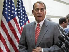 """We are resolved to have this law go away, and we're going to do everything we can to stop it,"" said House Speaker John Boehner, R-Ohio, of President Obama's health care law."