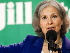Dr. Jill Stein delivers remarks Wednesday while announcing Cheri Honkala as her Green Party vice-presidential running mate during a press conference in Washington.