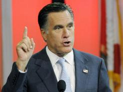Mitt Romney speaks in Houston.