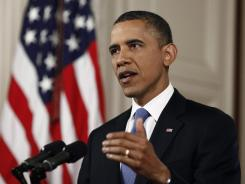President Obama discusses the health care law on June 28 following the announcement that the Supreme Court had upheld the legislation.