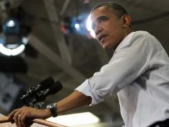 During a campaign stop in Virginia Beach, President Obama underscored efforts on behalf of veterans. However, a VA backlog continues in processing veterans' claims.