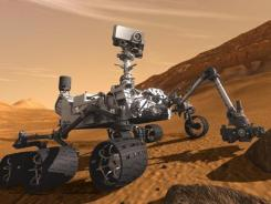 Artist rendering: The Curiosity rover is scheduled to land on Mars in early August. It will then begin a two-year mission.