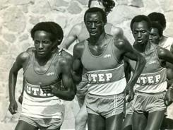 Suleiman Nyambui, center, won the silver medal at the 1980 Olympics.