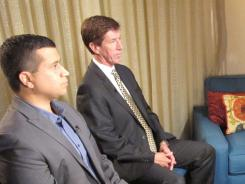 George Zimmerman, with his attorney Mark O'Mara, is interviewed by Fox News Channel host Sean Hannity on Wednesday.