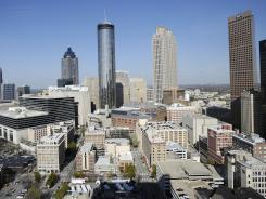 A view of downtown Atlanta. DeKalb County, which sits outside Atlanta, went from a mostly white Republican stronghold in 1990 to mostly non-white and Democratic.