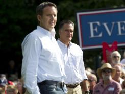 Tim Pawlenty campaigns with Mitt Romney in Cornwall, Pa., on June 16.