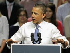 President Obama speaks at a campaign event last Thursday in Jacksonville, Fla.