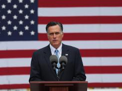 Mitt Romney delivers remarks Friday regarding the shooting at a Colorado movie theater in Bow, N.H.