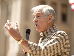 Ron Paul speaks at the Tea Party Express rally in Austin, Texas, on May 6.