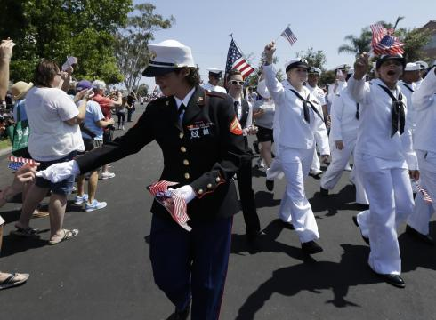 Military on Military Marchers Wear Uniforms In Gay Pride Parade     Usatoday Com