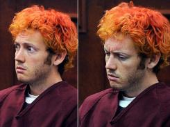 Movie theater massacre suspect James Holmes makes his first court appearance Monday in Centennial, Colo.
