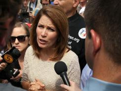 Bachmann: Questioning the patriotism of others.