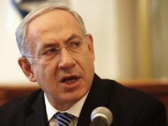 "Israeli Prime Minister Benjamin Netanyahu holds his weekly Cabinet meeting Sunday in Jerusalem. He says, ""The real thing — the real question — is not stated policy (from the U.S.) but actual results on the ground."""