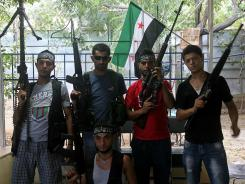 "Gunmen, who call themselves ""Partisans of the Syrian Revolution,"" allegedly sneak across Lebanon's border with Syria to fight along Syrian rebels."