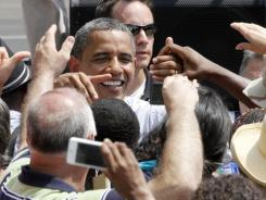 July campaign: President Obama on a two-day bus trip through Pennsylvania and Ohio.