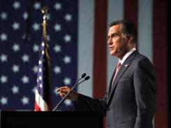 Mitt Romney speaks in Reno, Nev., on Tuesday.