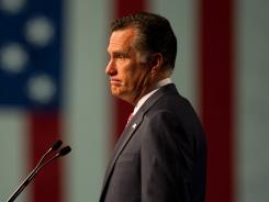 Mitt Romney speaks to the VFW convention in Reno on Tuesday.