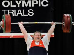 Representing USA: Holley Mangold will compete in women's weightlifting in London.